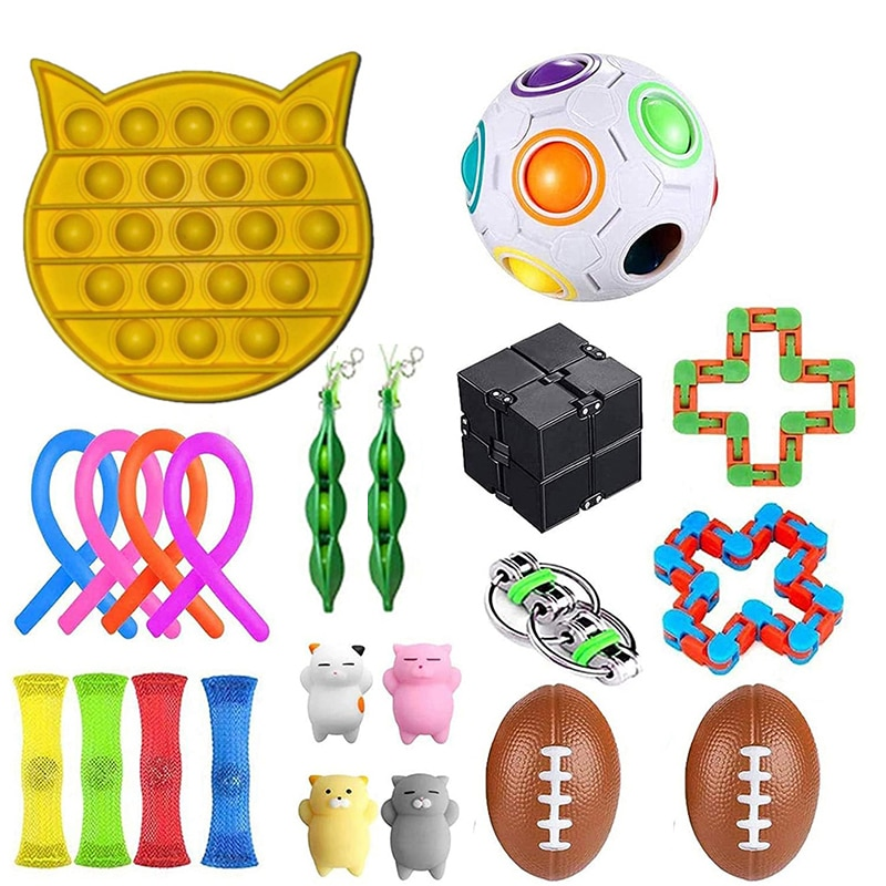 Fidget Sensory Toy Fidget Set Stress Relief Toys Autism Anxiety Relief Stress  Bubble Fidgets Toys For Kids Adults Random Color enlarge