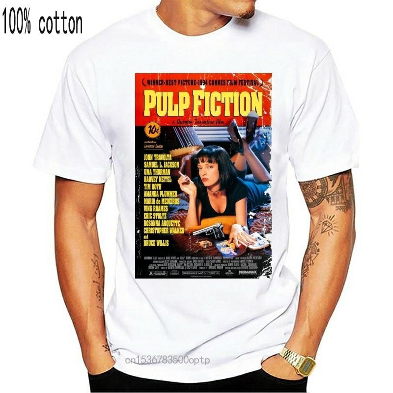 Camiseta masculina funy pulp fiction tshirs women t shirt (3)