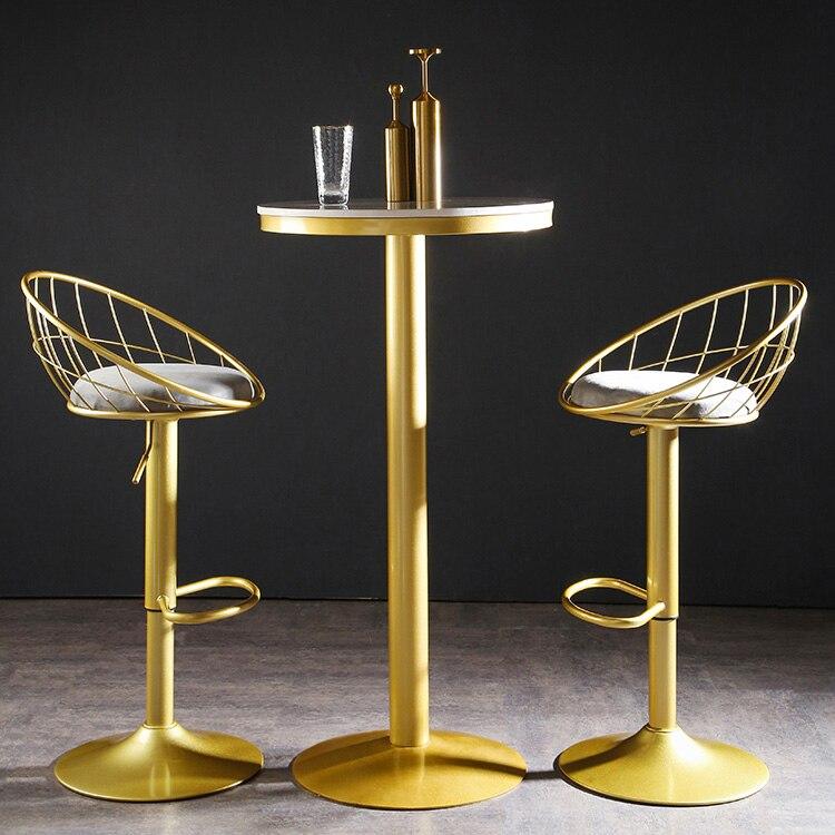 Meubles-silla nórdica De comedor, Taburete alto, mueble De comedor giratorio con elevación