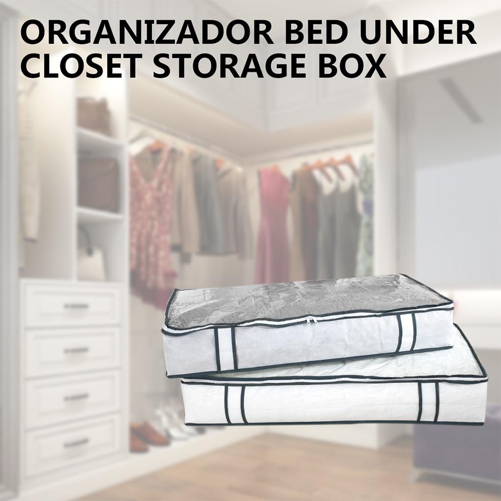 Organizador de almacenaje debajo de la cama. caja de almacenamiento de PVC...