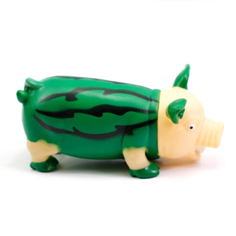 Cute Rubber Screaming Fruit Pig Squeeze Toy Anti Stress Reliever for Adults Children Desktop Home Decoration enlarge