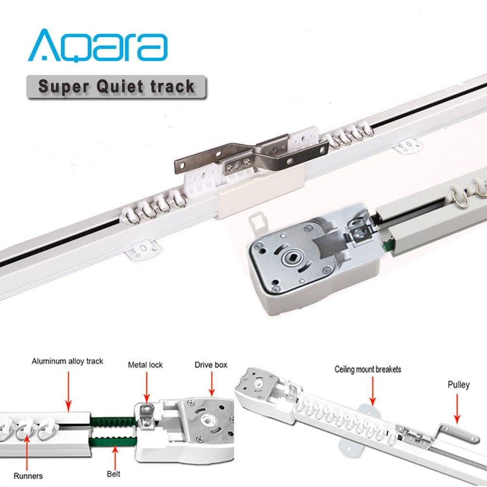 Libre al país de la UE Super silencioso cortina eléctrica pista para Aqara cortina motor Aqara casa inteligente Curtain Rail sistema de Control