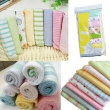 Haute qualité serviette 21x21cm 8 pcs/Pack bébé nouveau-né visage rondelles petite serviette coton alimentation lingette lavage