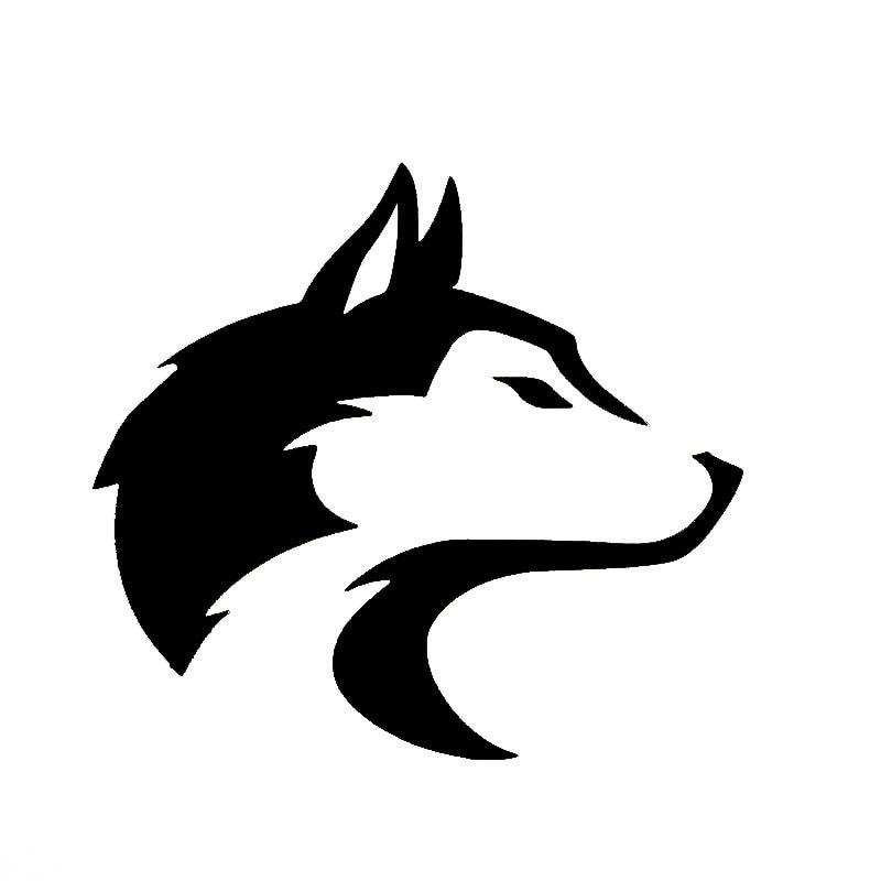 Venta caliente personalidad pegatinas de coche Husky perro de Alaska trineo Lobo...