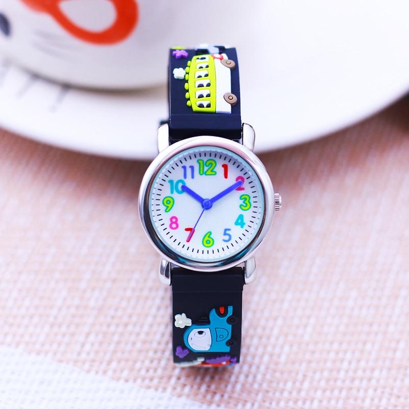 chaoyada fashion boys girls colorful digital little kids quartz wristwatch students cute school bus