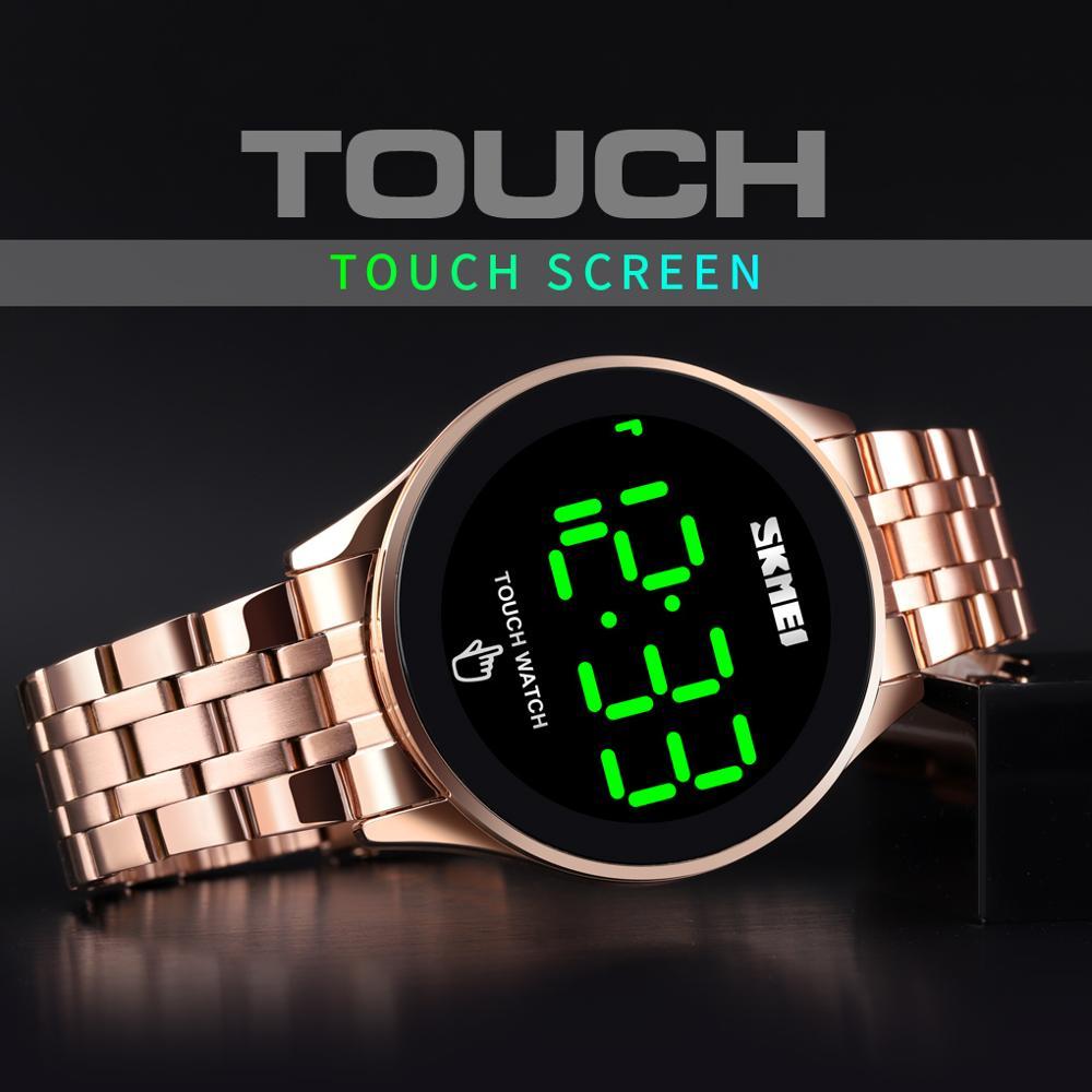 Skmei Relojes Fashion LED Touch Screen Men's Wristwatches SKMEI Brand Waterproof Stainless Steel Digital Watch Relogio Masculino