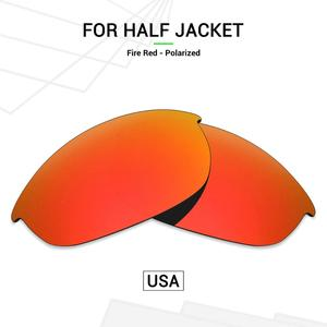Mryok POLARIZED Replacement Lenses (from USA) for Oakley Half Jacket Sunglasses Fire Red