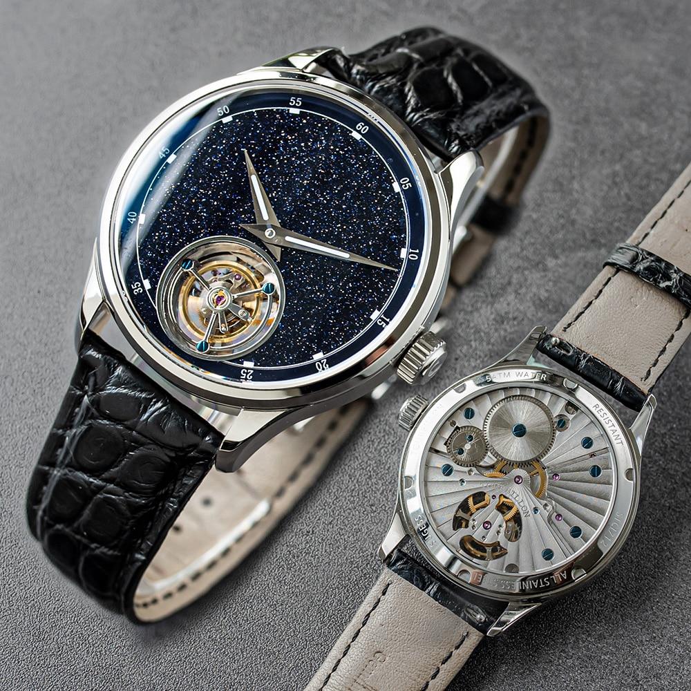 Sugess-ساعة عمل رجالية ، توربيون ماستر ، إصدار محدود ، أزرق ، GoldStone ، هدية الأب ، Seagull ، 2020