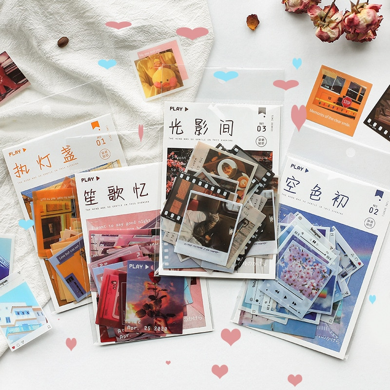 40Pcs/pack Time Fragment Series Small Scrapbooking Decorative Stickers Aesthetic Paper Sticker Flakes Stationary Accessories DIY kawaii rosyposy life series cute sticker custom stickers diary stationary flakes scrapbook diy decorative stickers