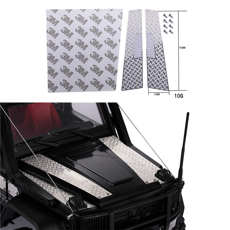 Metal Engine Cover Hood Non-slip Board Anti-skid Plate For 1/12 G500  RC Crawler Car Parts