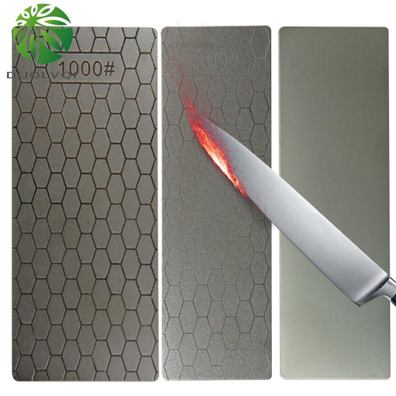 Duolvqi cuchillo de diamante fino útil afilador piedra Arena de piedra de afilar disco cocina Piedra afiladora de cuchillo afilador cuchillos herramientas