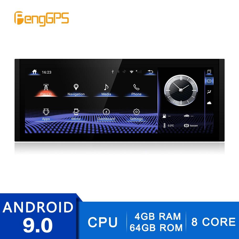 2 din estéreo android 9.0 para lexus é 2013-2017 gps navegação dvd player fm/am rádio 4g + 64g dvd player multimídia 4k unidade central