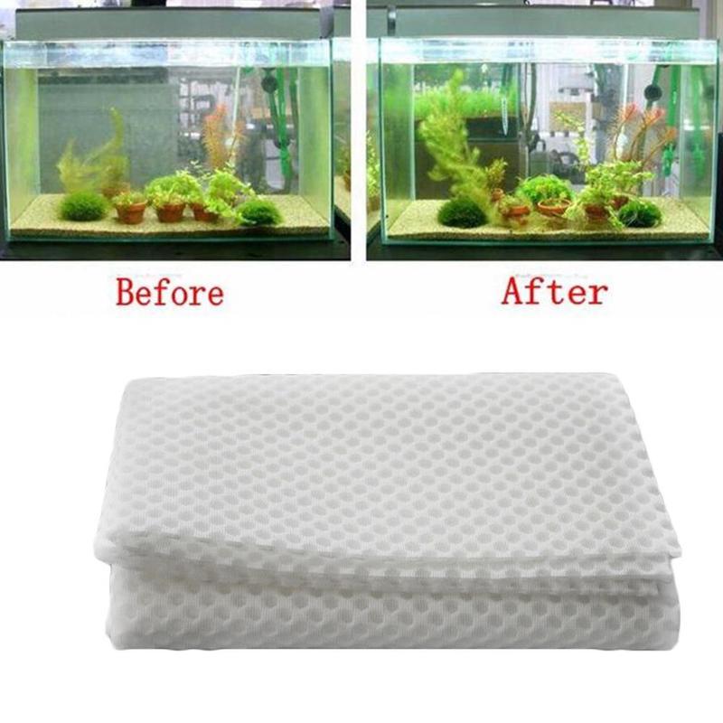 1 Uds., 150x30cm, 3D, bioquímico, tanque de peces, espuma de algodón, almohadilla de esponja gruesa, Alfombra de nido de abeja de alta densidad