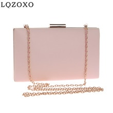 Women PU Fashion Clutch Mixed Color Leather Metal Ladies  Evening Bags Party Wedding Bridal Handbags