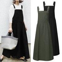Женское платье 2021 VONDA, повседневное хлопковое льняное платье макси с квадратным вырезом, элегантный пляжный сарафан, сексуальный халат без ...