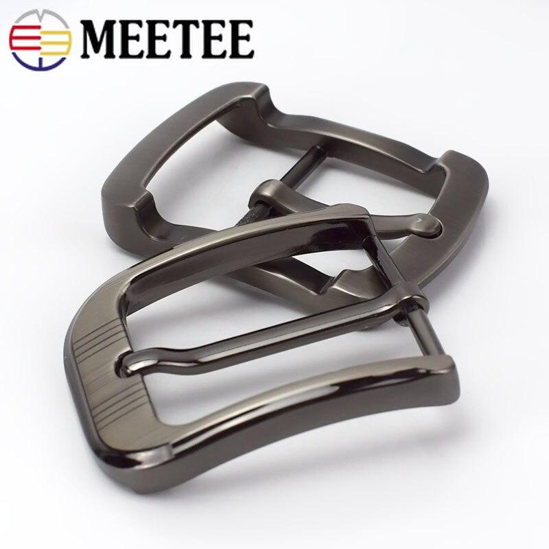 Купить с кэшбэком Meetee 2/5pcs Metal Pin Belt Buckles for Mens Women 35/40mm Waistband Head DIY Leather Crafts Jeans Decor Hardware Accessories