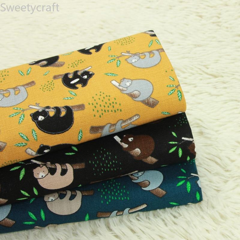 Estampado de dibujos animados Panda de 110x45cm, tejido fino acolchado de algodón,...