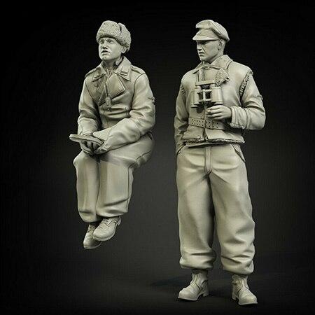 1/35 antiguos oficiales Kharkov incluyen 2 figuras de resina modelo kits miniatura gk desmontaje sin pintar