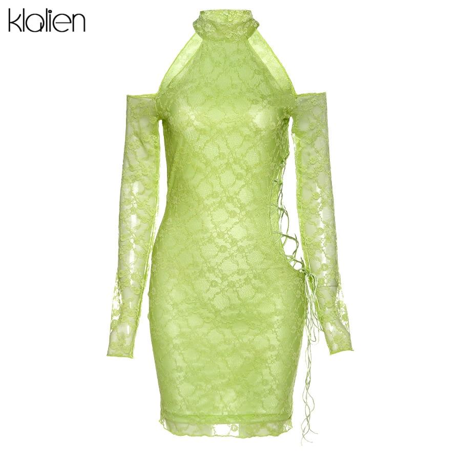 Kleid Frau Minikleid Hals Rollkragen Hoher Rollkragen Pullover Toocool VI-1221