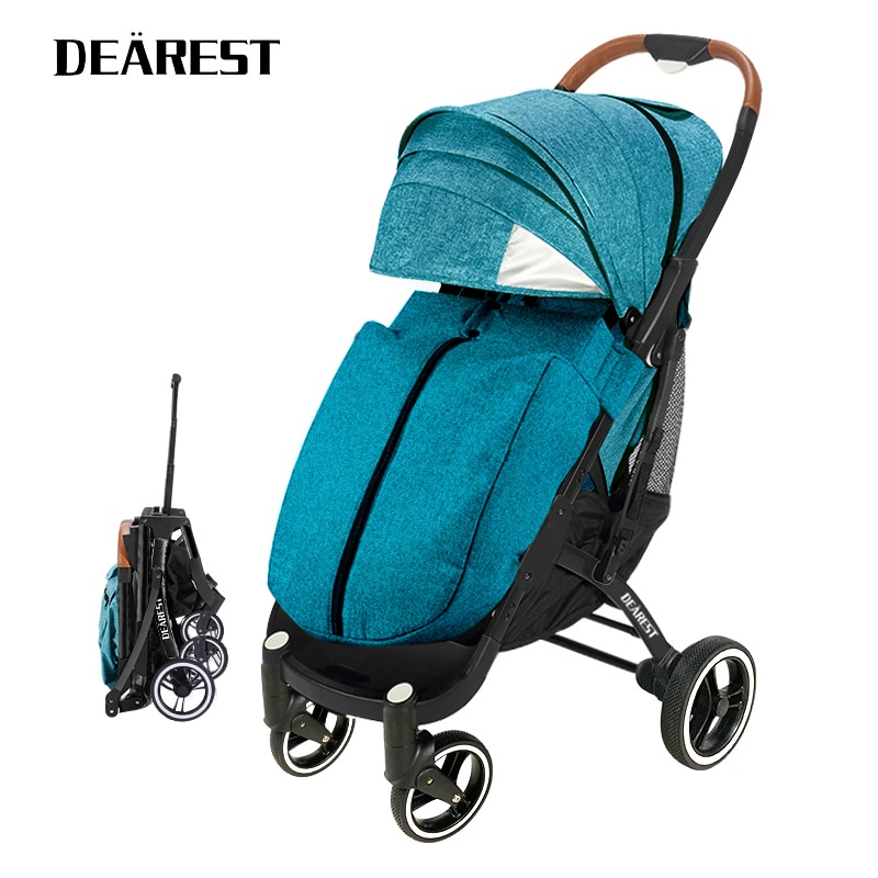 Dearest Pro 2021 Baby Carriage Ultra-Light Folding Baby Stroller Can Sit Easily Lie down Baby Buggy BB Trolley Plane