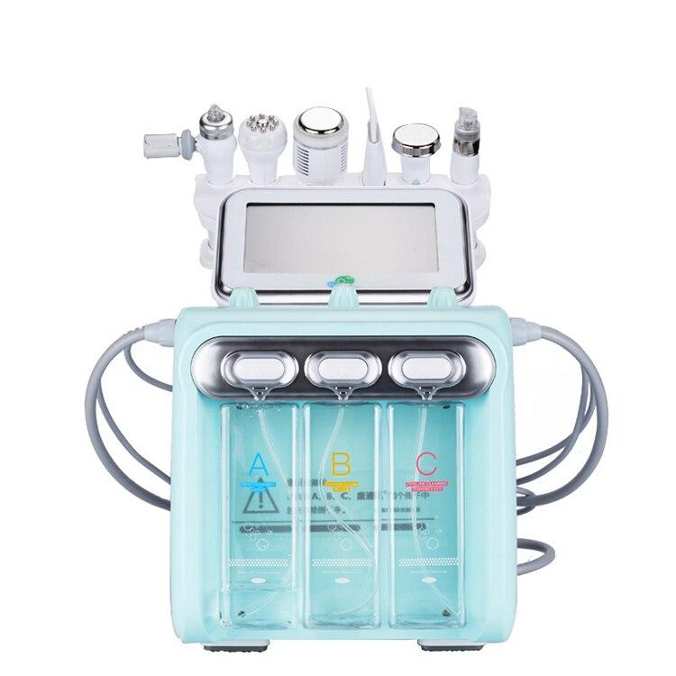 جديد وصول! 6 في 1 H2O2 فوهة/ قناع الأكسجين قشر هيدرا الجمال الجلد التطهير هيدرا جلدي جهاز للعناية بالوجه المياه أكوا تقشير