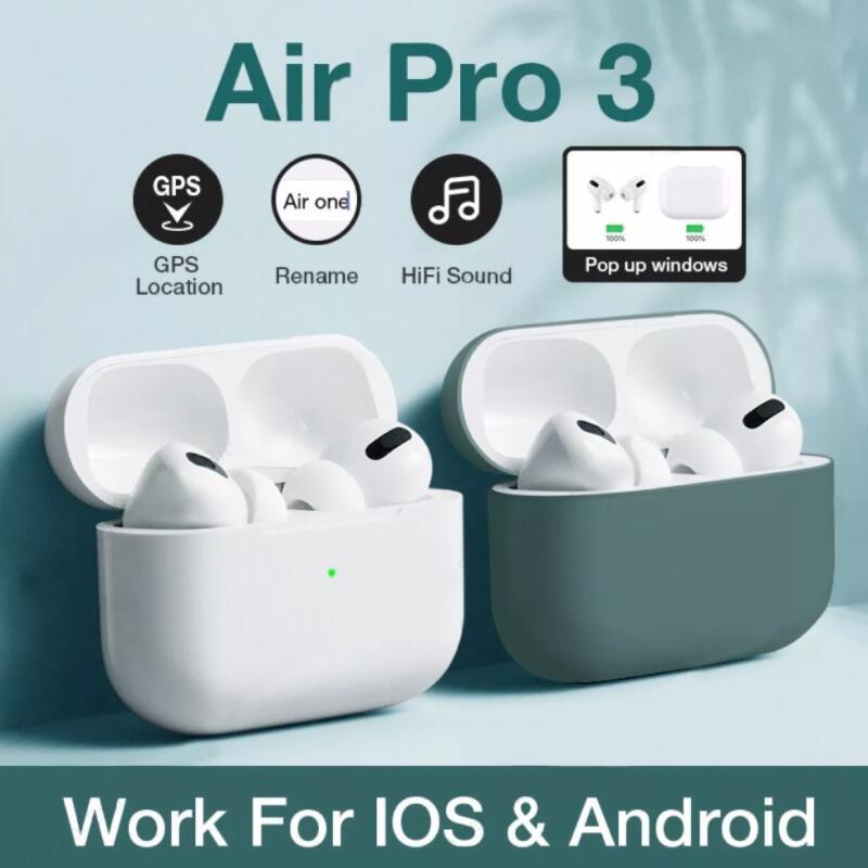airpoddings pro 3 Bluetooth Earphone Wireless Headphones HiFi Music Earbuds Sports Gaming Headset Fo