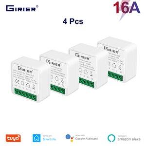 4 шт. 16A Smart Wifi выключатель света 2 Way Управление, система автоматического управления