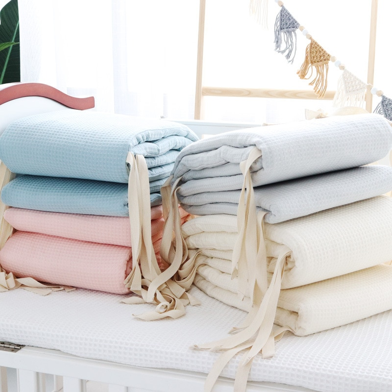Baby Bed Thicken Bumper One-Piece Crib Around Cushion Cot Washable Anti-Collision Protector Newborns Crib Bedding Set Room Decor