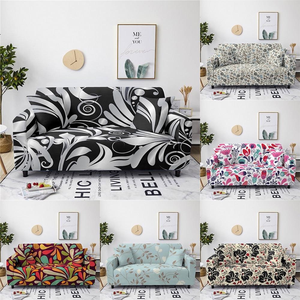 Чехол для дивана в форме цветка 1/2/3/4, Роскошный чехол для сиденья, чехол для дивана, подходит для гостиной, нескользящий чехол для дивана из с... чехол