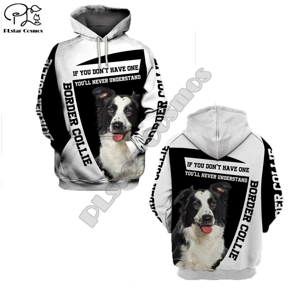 Unissex masculino fronteira collie cão impressão 3d hoodies outono manga longa camisolas feminino pulôver agasalho capuz primavera outwear