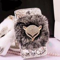 fur leather flip wallet case for iphone 12 mini 11 pro xs max x xr 8 7 6s 6 plus 5 5s se 2020 card stand slot phone cover coque