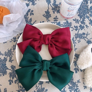 1 Korean version of the big red bow hairpin, girl student temperament headdress Japanese cute top clip