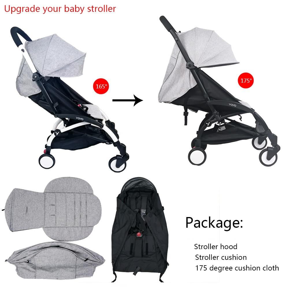 3 قطعة/المجموعة عربة غطاء و وسادة أوكسفورد عودة سستة جيب الطفل عربة اكسسوارات ل Babyzen يويو Yoya Babytime عربة