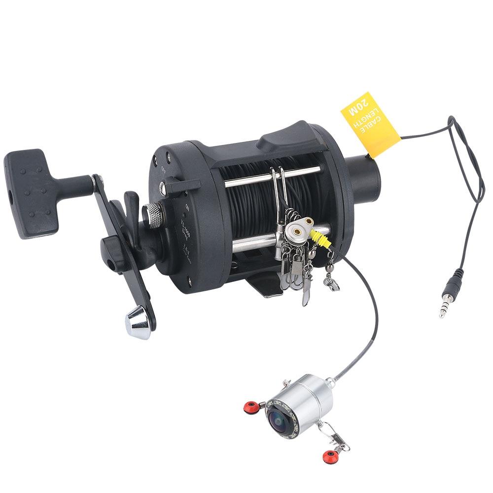 GAMWATER 4.3'' 25M 1000TVL Fish Finder Underwater Fishing Camera 175 Degrees Sea wheel Camera with Fishing hook 3.6M Fishing Rod enlarge