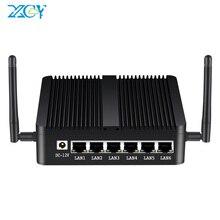 Xcy Firewall Apparaat Intel Celeron J1900 Mini Pc 6 Xlan Intel I211AT Gigabit Ethernet Wifi 3G/4G sim Pfsense Zachte Router