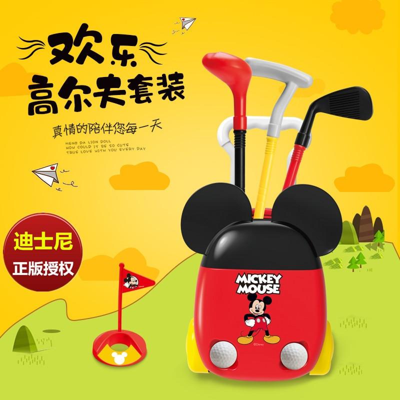 Juego de Pelota para hacer ejercicio Original Disney Mickey simulación de Golf interior y exterior juguetes para niños Minnie