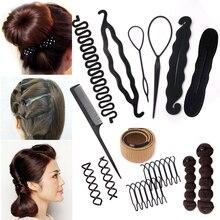 Multic Styles Braiding Women Girls DIY Hair Styling Tools Comb Hair Pin Disk Pull Sponge Braider Hair Band Headwear Headbands