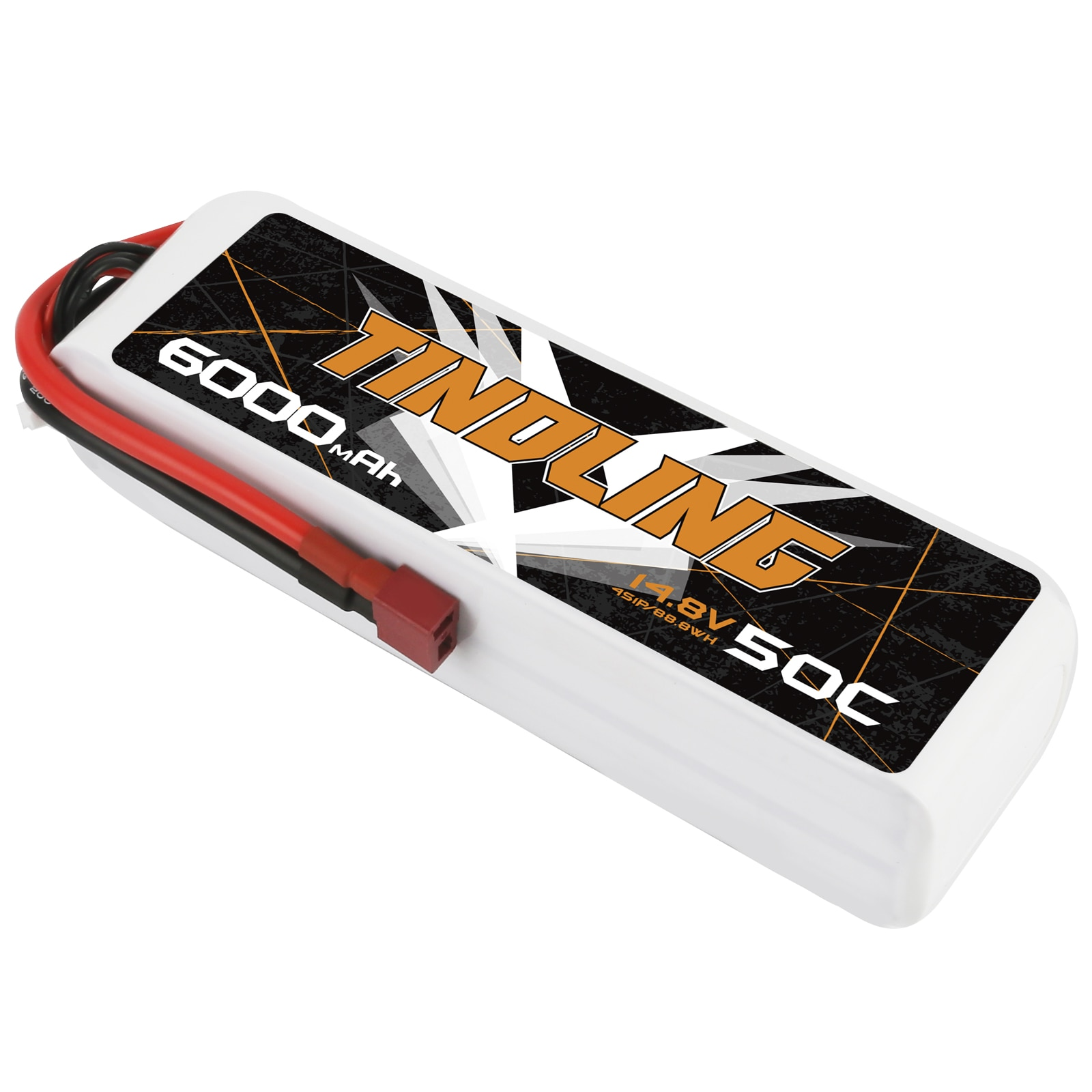 TINDLING 6000mAh 50C 4S 14.8V Lipo Battery with T Plug RC Quadcopter Drone Boat RC Boat toys and model car accessories enlarge