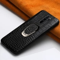 genuine leather magnetic ring holder case for redmi note 8 pro 8t 9s 9 10 pro bracket cover for xiaomi mi 10 t note 10 pro 9t