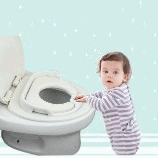 Мягкое детское сиденье для унитаза, портативное детское кресло для тренировок для девочек и мальчиков, имитация туалетного кресла, детское ...