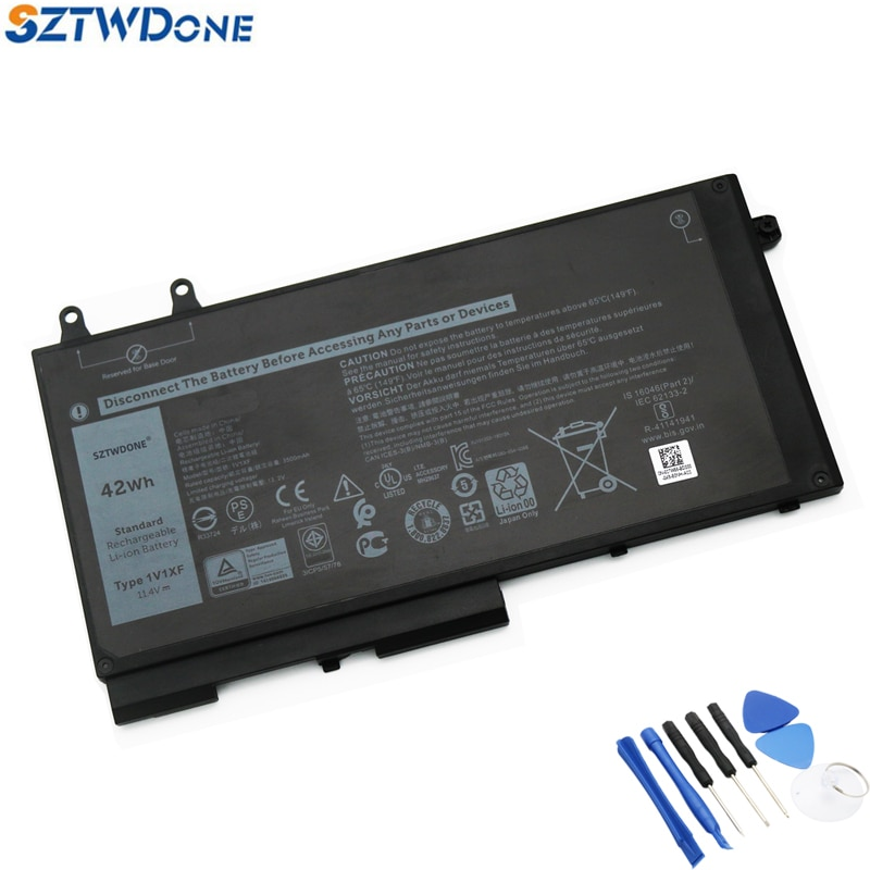 SZTWDONE 1V1XF New Laptop Battery for DELL Precision 3540 M3540 11.4V 42WH