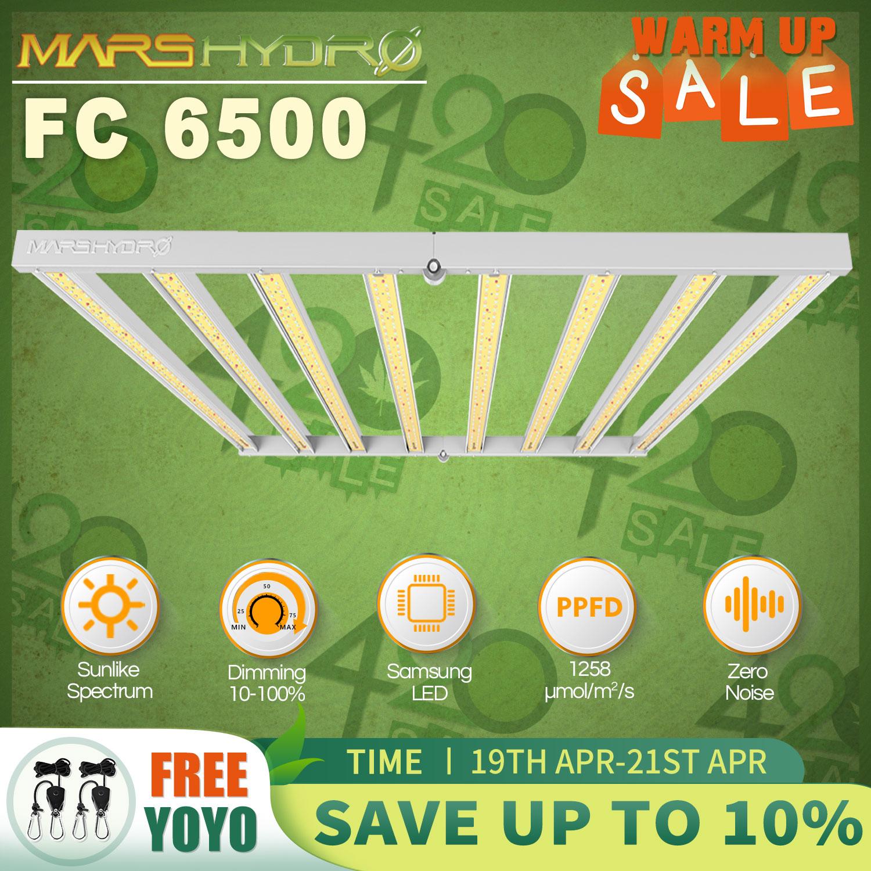 New Arrival! Mars Hydro FC 6500 Samsung LM301B Full Spectrum LED Grow Lights Strip Grow Tent Hydroponics Veg and Flower