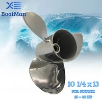 outboard propeller 10 14x13 for suzuki engine 20hp 25hp 30hp stainless steel 10 tooth splines outlet boat parts 99105 00600 13p