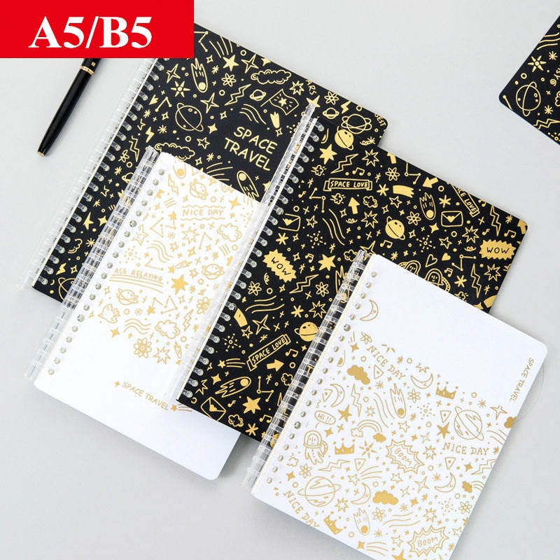 Agenda A5 B5 Loose-leaf Spiral Space Notebook and Journals Kawaii Organizer Schedule Coil Notepad Office Supplies Stationery
