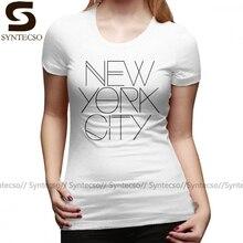 I Love New York T-Shirt New York ville T-Shirt grande taille à la mode femmes T-Shirt 100 coton à manches courtes argent dames T-Shirt