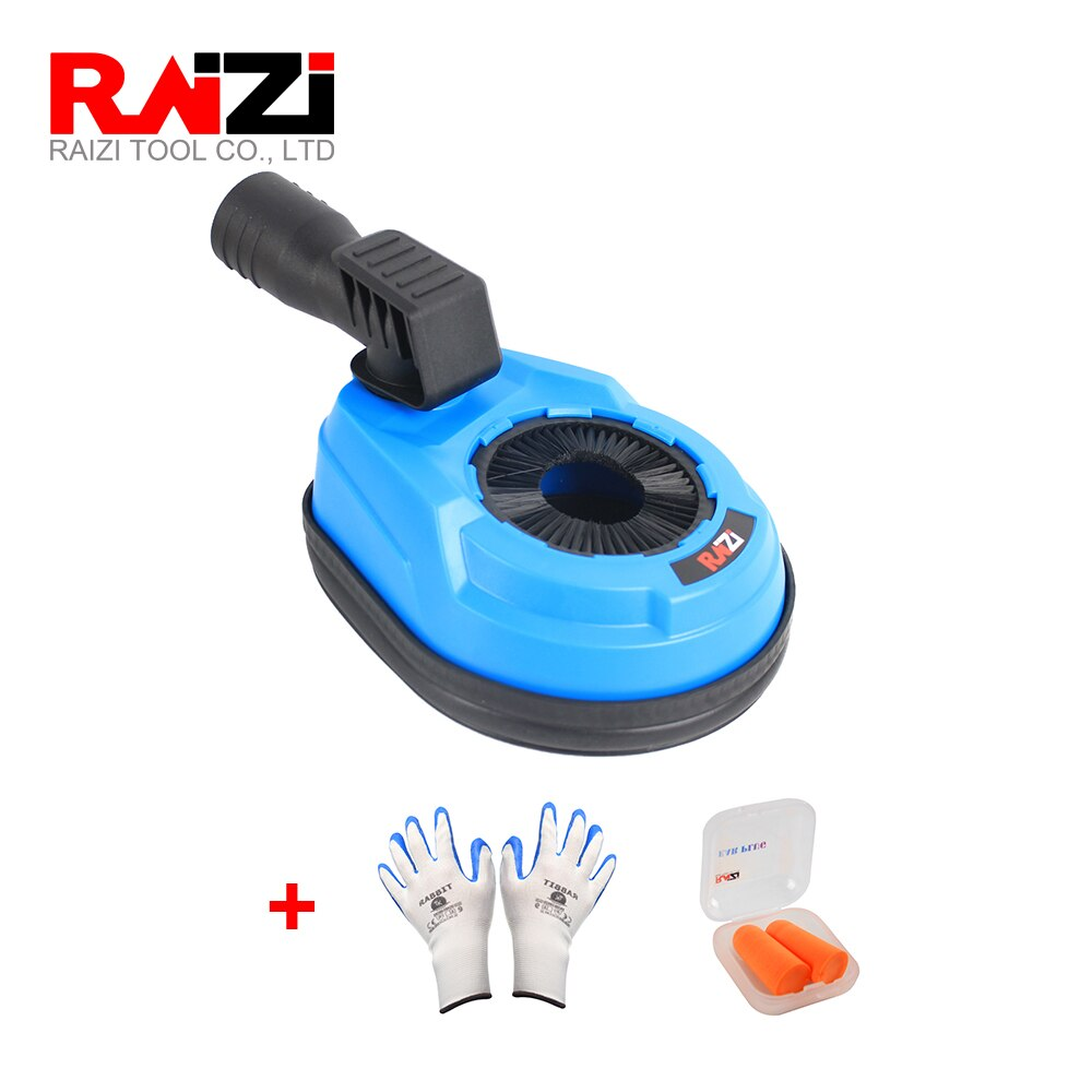 Raizi Universal Rotary Hammer Drilling Dust Shroud for Angle Grinder Dust Collection Cover Dust Extraction Attachment enlarge