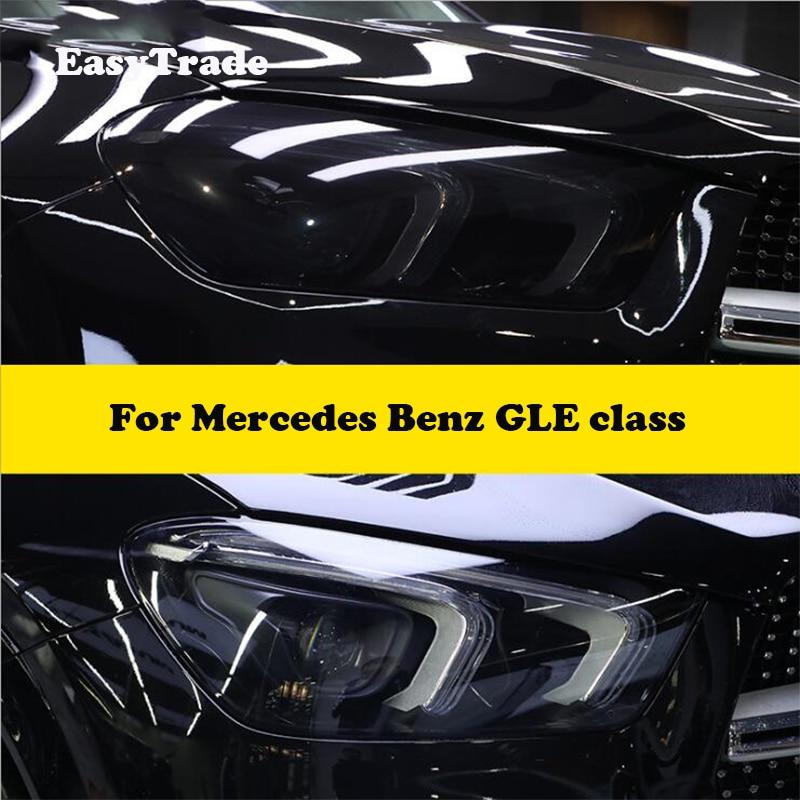 Para Mercedes Benz GLE Class W166 V167 2016 2019 TPU Negro transparente película de protección para faros delanteros de coche pegatina antiarañazos