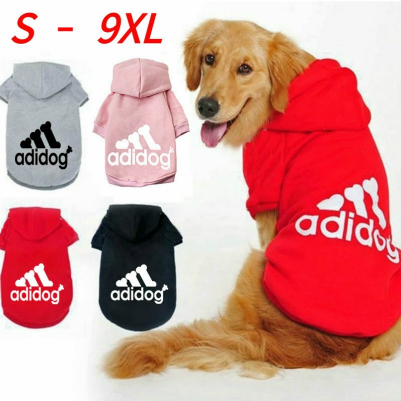 Winter Pet Dog Hoodie Clothes for Medium Large Dogs,Fleece Warm Hooded Jacket Sweatshirt,Labrador Fr