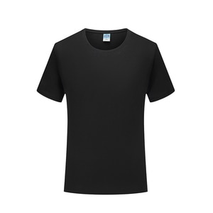Men's high quality mercerized cotton short sleeve T-shirt casual cotton round neck solid color matching short sleeve T-shirt