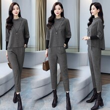 Fashion Suit Women's Autumn Clothing 2021 New Elegant Slim Fit Casual Western Style High Waist Droop